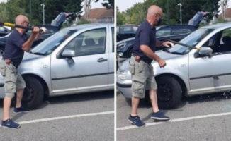 Vyras buvo priverstas išdaužti svetimos mašinos langą, jog išgelbėtų paliktą šunį