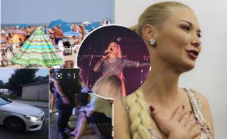 Natalijos Bunkės koncertas supykdė Palangos gyventojus. Buvo kviečiama policija