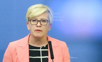Atsiimdama apdovanojimą Šimonytė kvietė palaikyti baltarusius